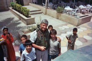 with kids in Baghdad