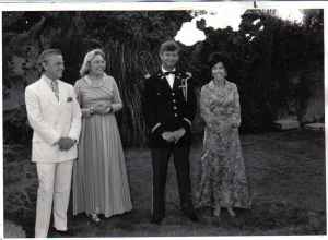 my wife Terry with Ambassador Brown at a formal affair in Amman Jordan 1971