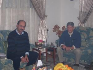 Barham Salih and me Suleimaniya 2004