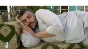 Muqtada after lunch or perhaps listening to speech by Obama
