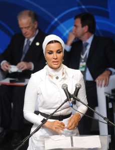 Mozah...hard charging wife of Hamad..outgoing Emir of Qatar, and mother of new Emir