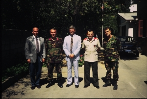 wirh officers on Cyprus