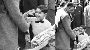A photo that social media users in Egypt claim that shows  Sisi as a child with  Nasser. (Photo courtesy: Facebook)