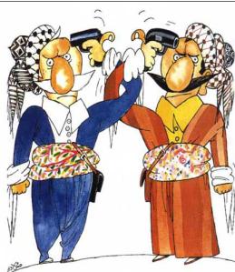 Kurdish factions By Iraqi Kurdish Cartoonist Ali Al Mundalawi