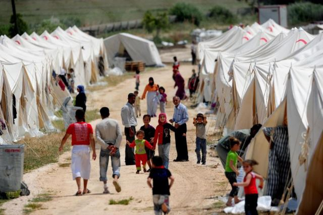Syrian refugee camp in Turkey sponsored by the Red Crescent. (Photo courtesy: www.abc.net.au
