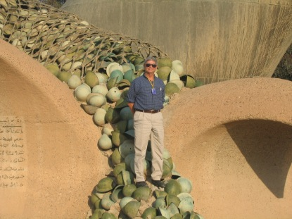 me atop iranian helmets